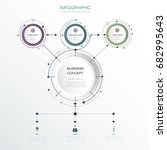 vector infographic 3d circle... | Shutterstock .eps vector #682995643