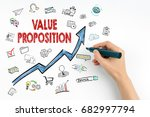 Small photo of Value Proposition Concept. Hand with marker writing