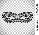 beautiful lace mask  mardi gras ... | Shutterstock .eps vector #683003698