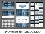 website template  one page... | Shutterstock .eps vector #683005300