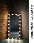 long dressing mirror with light ... | Shutterstock . vector #683005549