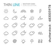 Collection Of Weather Thin Lin...