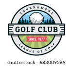 vintage golf badge logo... | Shutterstock .eps vector #683009269