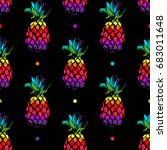 vivid exotic seamless pattern... | Shutterstock .eps vector #683011648