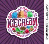 vector logo for ice cream  3... | Shutterstock .eps vector #683012890