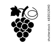 bunch of grapes vector icon on... | Shutterstock .eps vector #683013040