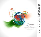 indian independence day... | Shutterstock .eps vector #683014459