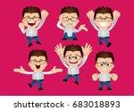 cute set   set of... | Shutterstock .eps vector #683018893