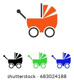 baby carriage vector pictograph.... | Shutterstock .eps vector #683024188