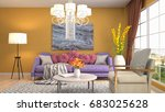 interior living room. 3d... | Shutterstock . vector #683025628
