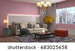 interior living room. 3d... | Shutterstock . vector #683025658