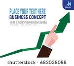 finger up holding chart arrow....   Shutterstock .eps vector #683028088