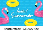 hello  summer banner vector... | Shutterstock .eps vector #683029720