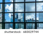 window view of city skyline... | Shutterstock . vector #683029744