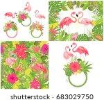 beautiful wedding design and...   Shutterstock .eps vector #683029750