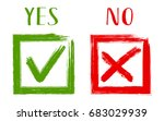 yes and no acceptance and... | Shutterstock .eps vector #683029939