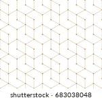 seamless geometric line grid... | Shutterstock .eps vector #683038048