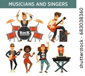 music band singers  musicians... | Shutterstock .eps vector #683038360
