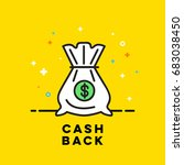 bag icon with money in a flat... | Shutterstock .eps vector #683038450