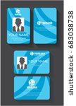 creative id card template with... | Shutterstock .eps vector #683038738