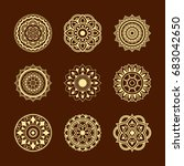 set circular pattern in the... | Shutterstock .eps vector #683042650