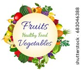 fresh organic food  healthy...   Shutterstock . vector #683046388