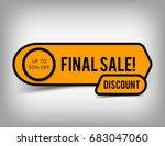 creative final sale banner ... | Shutterstock .eps vector #683047060