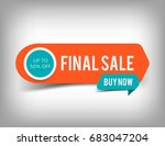 orange final sale banner ... | Shutterstock .eps vector #683047204