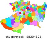 Color map. Estado de Michoacan. Mexican Republic