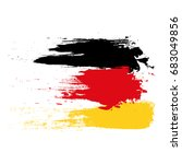 german flag painted with brush... | Shutterstock .eps vector #683049856