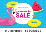 summer sale banner vector... | Shutterstock .eps vector #683050813