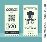 food park coupon ticket.... | Shutterstock .eps vector #683051050