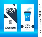 coffee shop ticket. element... | Shutterstock .eps vector #683051314
