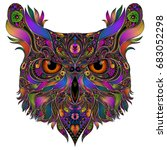 color vector owl from abstract... | Shutterstock .eps vector #683052298