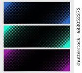 halftone square pattern banner...   Shutterstock .eps vector #683052373