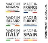 simple vector logos made in... | Shutterstock .eps vector #683057026