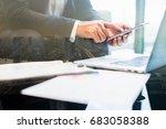 close up of businessman hand...   Shutterstock . vector #683058388