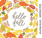 hello fall | Shutterstock .eps vector #683061520