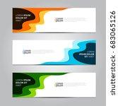 vector abstract design banner... | Shutterstock .eps vector #683065126