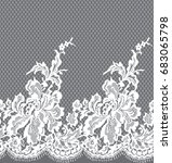 seamless vector white lace... | Shutterstock .eps vector #683065798