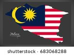 malacca malaysia map with... | Shutterstock .eps vector #683068288