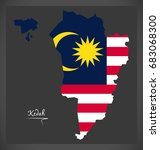kedah malaysia map with... | Shutterstock .eps vector #683068300