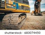 Close Up Details Of Excavator...
