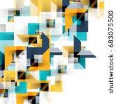 modern square geometric pattern ... | Shutterstock .eps vector #683075500