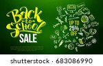 back to school sale with... | Shutterstock .eps vector #683086990