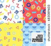 seamless geometry vector... | Shutterstock .eps vector #683089603