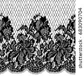 seamless vector black pattern | Shutterstock .eps vector #683090704