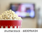 watching movie on smart tv  ... | Shutterstock . vector #683096434