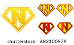 Super Hero Logo Letter N...