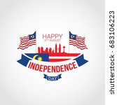 malaysia independence day...   Shutterstock .eps vector #683106223